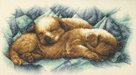 Нажмите на изображение для увеличения.  Название:Dimensions 35215 Peaceful Puppies.jpg Просмотров:79 Размер:32.0 Кб ID:192934