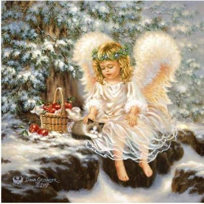 Зимний ангел. Вышивка крестом