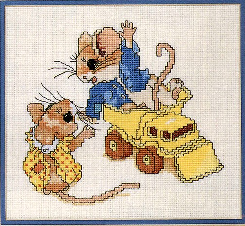 """28. Designs by Gloria & Pat  """"Весёлые мышки """".  Тема постоянно обновляется новыми сюжетами.  Февраль.  Новые схемы."""