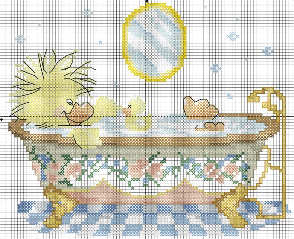 Вышивка крестом для ванны и туалета 80