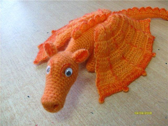 Дракон-апельсин крючком.