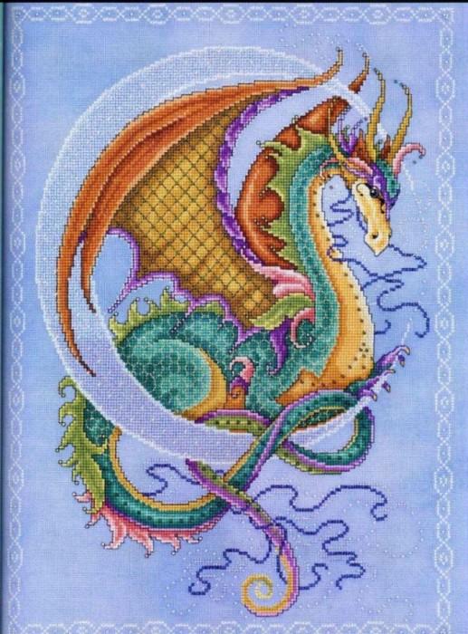 Дракона вышивка схемы