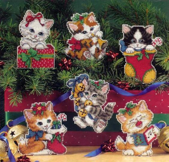 Нажмите на изображение для увеличения.  Название:Dim08519 Christmas Kitty Ornaments.jpg Просмотров:147 Размер:82.6 Кб ID:99338
