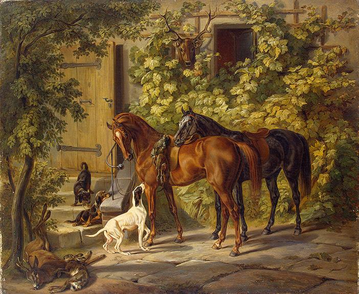 Нажмите на изображение для увеличения.  Название:Adam Albrecht-XX-Horses at the Porch-XX-1843.jpg Просмотров:650 Размер:219.3 Кб ID:121897