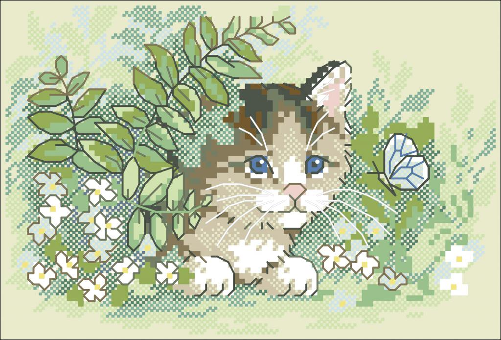 Нажмите на изображение для увеличения.  Название:Dimensions_06957_-_Kitten_and_Butterfly.jpg Просмотров:360 Размер:135.7 Кб ID:126182