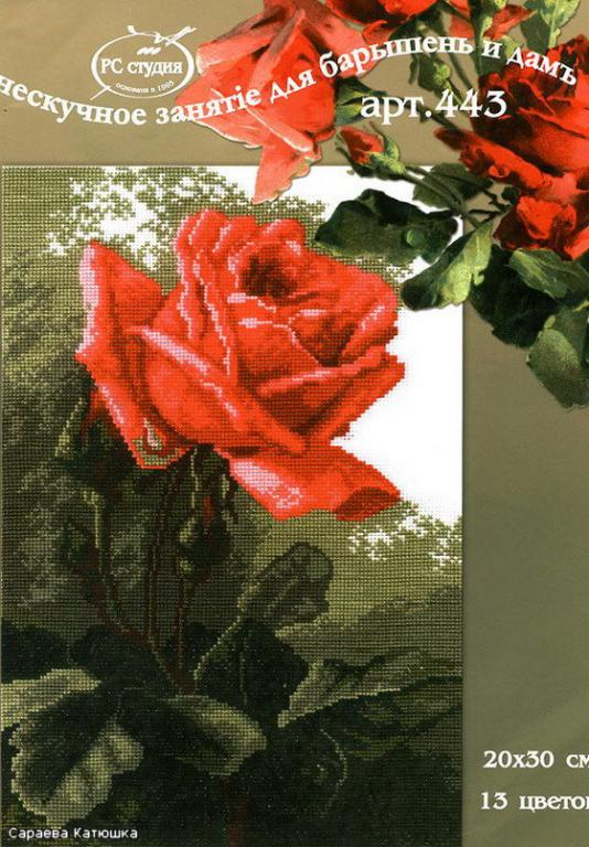Нажмите на изображение для увеличения.  Название:роза от РС-студио. С-443 Роза розовая 20 х 30.jpg Просмотров:399 Размер:86.0 Кб ID:126195