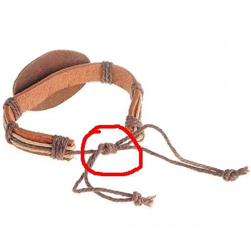 Как сделать затягивающийся узелок на браслете 181