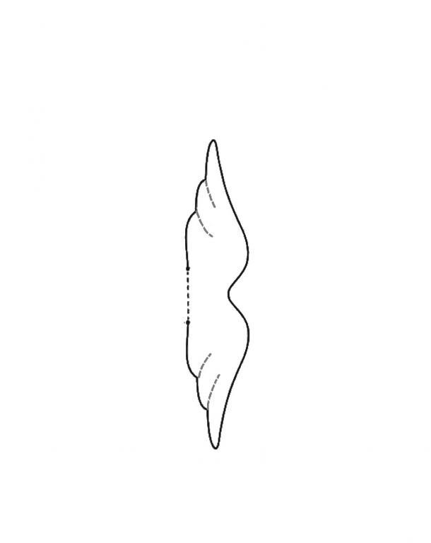 Нажмите на изображение для увеличения.  Название:принцесса на горошине выкройка крыльев.jpg Просмотров:203 Размер:12.6 Кб ID:142188