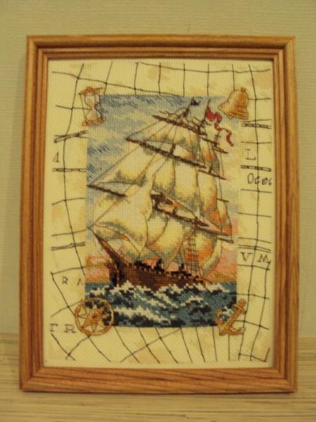 Кораблик в подарок другу - капитану яхты.