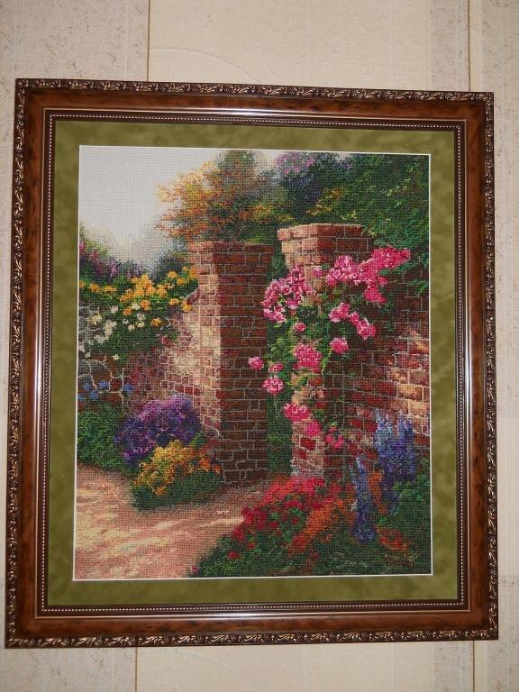 """""""Заброшенный сад"""", авторская схема по картине Томаса Кинкейда"""