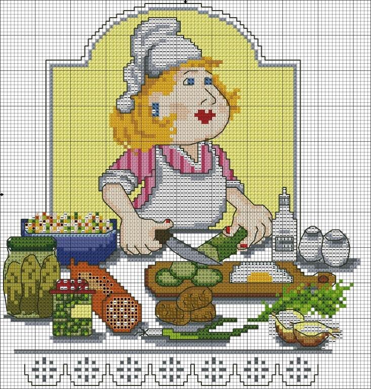 Вышивка крестом кулинария 433