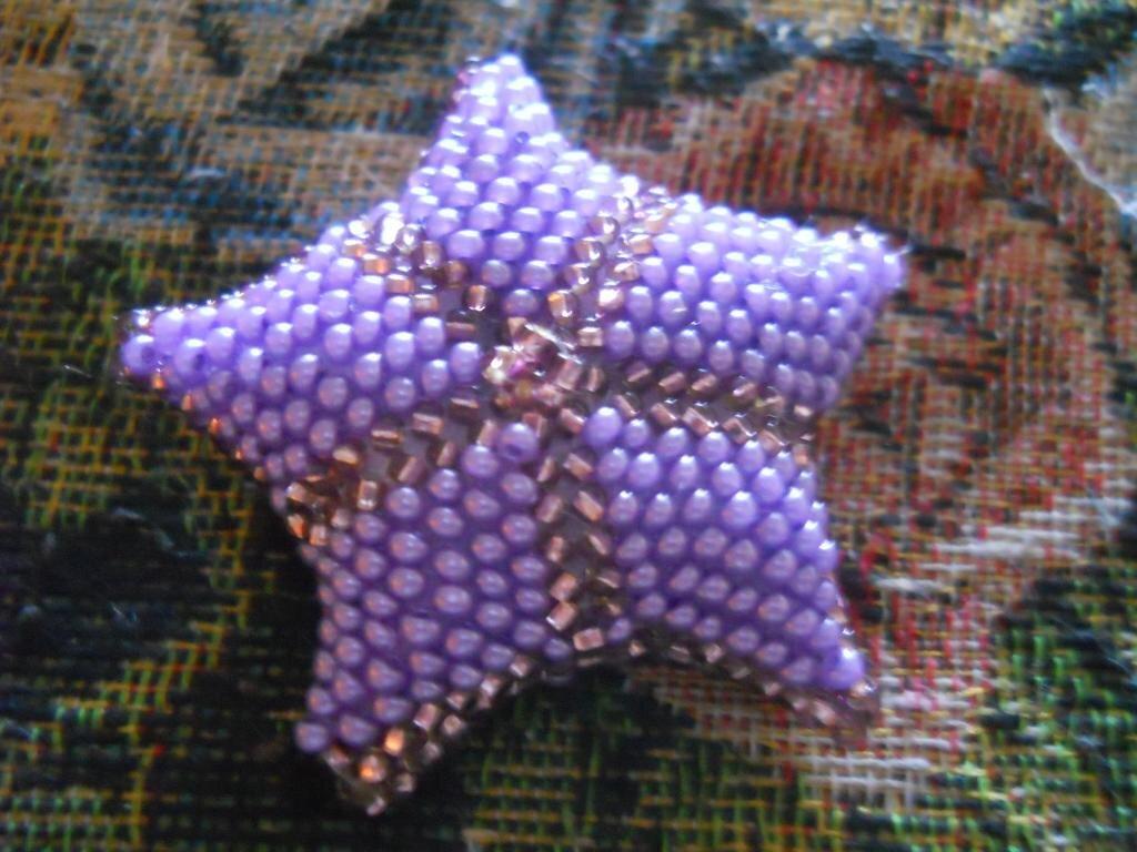 бисерная звездочка