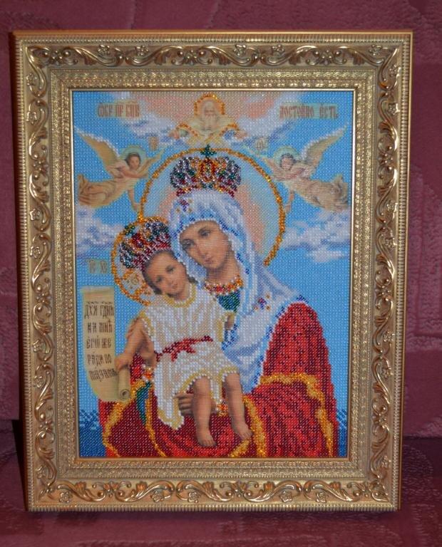 Богородица Милующая (Радуга бисера)