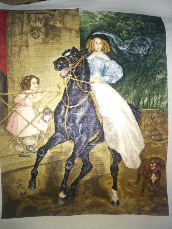 Всадница картина брюллова вышивка крестом 9